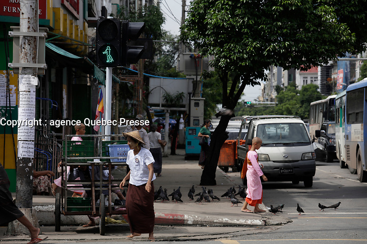 Yangon on a sunny day of July 2017