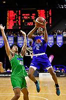 Kerwin Roach of the Wellington Saints shoots the ball during the NBL - Wellington Saints v Manawatu Jets at TSB Bank Arena, Wellington, New Zealand on Sunday 13 June 2021.<br /> Photo by Masanori Udagawa. <br /> www.photowellington.photoshelter.com