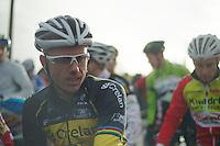 Belgian Champion Sven Nys (BEL) at the start<br /> <br /> 2014 Noordzeecross<br /> Elite Men