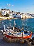 Babulas Taverna on the waterfront in Mykonos Town in Greece