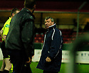 27/11/2004  Copyright Pic : James Stewart.File Name : jspa11_falkirk_v_ross_county.COUNTY MANAGER ALEX SMITH ISN'T HAPPY AFTER DANIEL MCBREEN SCORES FALKIRK'S EQUALISER BECAUSE ONE OF HIS DEFENDERS, MARTIN CANNING, WAS OFF BEING TREATED.....Payments to :.James Stewart Photo Agency 19 Carronlea Drive, Falkirk. FK2 8DN      Vat Reg No. 607 6932 25.Office     : +44 (0)1324 570906     .Mobile   : +44 (0)7721 416997.Fax         : +44 (0)1324 570906.E-mail  :  jim@jspa.co.uk.If you require further information then contact Jim Stewart on any of the numbers above.........