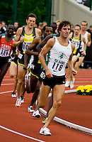 EUGENE, OR--John Jefferson, races in the men's 2 mile at the Steve Prefontaine Classic, Hayward Field, Eugene, OR. SUNDAY, JUNE 10, 2007. PHOTO © 2007 DON FERIA