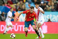 Spain's Saul Niguez (l) and Costa Rica's Yeltsin Tejeda during international friendly match. November 11,2017.(ALTERPHOTOS/Acero) /NortePhoto.com