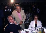 EMILIO FEDE CON GIANNI E MADDALENA LETTA<br /> FESTA PER I 60 ANNI DI MAURIZIO COSTANZO<br /> MANEGGIO DI GIANNELLA  1998