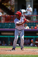 Harrisburg Senators Chuck Taylor (11) at bat during an Eastern League game against the Erie SeaWolves on June 30, 2019 at UPMC Park in Erie, Pennsylvania.  Erie defeated Harrisburg 4-2.  (Mike Janes/Four Seam Images)