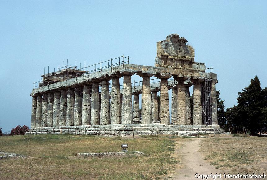 Italy: Paestum--Ceres Temple, late 6th C. B.C. Photo '83.