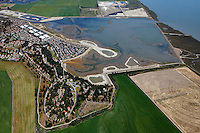 aerial photograph of Hamilton Airfield wetland restoration project, Novato, Marin county, California, 2014