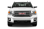 Straight front view of a 2014 GMC Sierra 1500 SLE Crew Cab