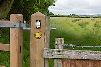 Hadrian's Wall Footpath Trail Emblems.  Cumbria, England, UK.