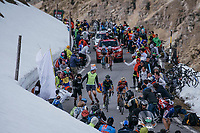 Vincenzo Nibali (ITA/Bahrain-Merida) & Nairo Quintana (COL/Movistar) go head-to-head up the final climb of the day: the Umbrailpass (Alt: 2502m)<br /> <br /> Stage 16: Rovett › Bormio (222km)<br /> 100th Giro d'Italia 2017