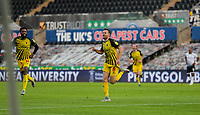 2nd January 2021; Liberty Stadium, Swansea, Glamorgan, Wales; English Football League Championship Football, Swansea City versus Watford; Tom Cleverley of Watford celebrates after scoring his sides first goal in the 20th minute to make the score 0-1