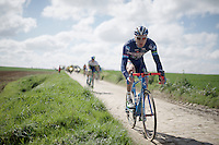 Frederik Backaert (BEL/Wanty-Groupe Gobert) in sector 24: Saint-Python (1.5km)<br /> <br /> 114th Paris-Roubaix 2016