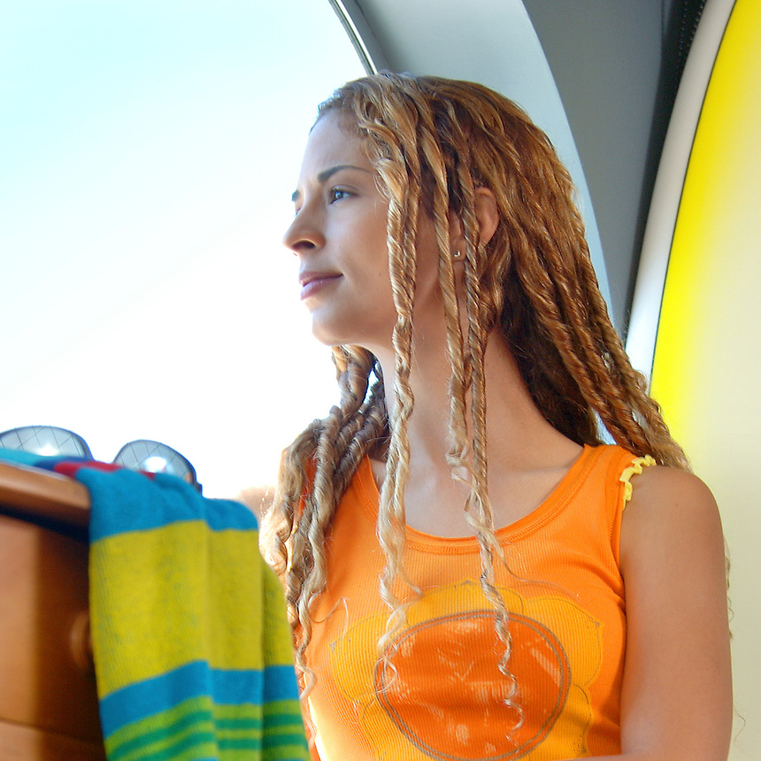Teen girl at the beach.