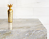 """Countertop shown in polished Cirrus with polished 6"""" x 24"""" Dolomite bricks, is part of the Semplice™ collection for New Ravenna."""