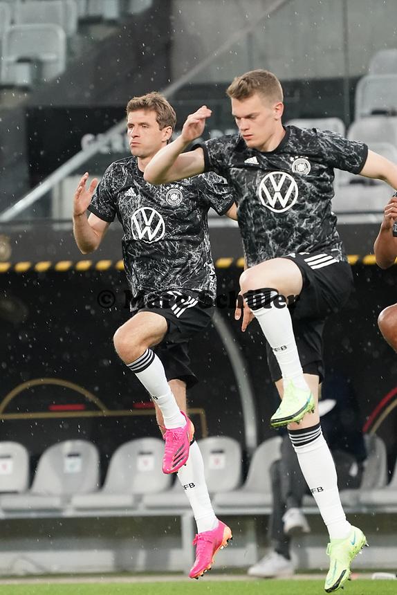 Matthias Ginter (Deutschland Germany), Thomas Mueller (Deutschland Germany) - Innsbruck 02.06.2021: Deutschland vs. Daenemark, Tivoli Stadion Innsbruck