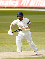 15th April 2021; Emirates Old Trafford, Manchester, Lancashire, England; English County Cricket, Lancashire versus Northants;  Steven Croft of Lancashire between wickets