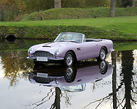 BNPS.co.uk (01202 558833)<br /> Pic: TomHartley/BNPS<br /> <br /> What the FCUK !...£650,000 for the worlds only lilac DB6.<br /> <br /> This striking Aston Martin will probably leave fans of James Bond shaken and stirred - but the iconic and original motor is one of a kind.<br /> <br /> The unique Aston Martin convertible  was ordered new from the factory by famous fashion company boss Stephen Marks, founder of  French Connection in 1969.<br /> <br /> Some 140 DB6 Volantes were built by the British marque with this 1969 model the only example to be delivered in this vivid colour.<br /> <br /> He was said to have fallen in love with the colour and kept the Aston Martin as part of his car collection for 45 years before parting with it.