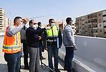 Egyptian President Abdel Fattah el-Sisi,  inspects the road development works in Cairo, Egypt on February 26, 2021. Photo by Egyptian President Office