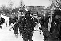 - NATO exercises in Norway, U.S. Marines (March 1986)....- esercitazioni NATO in Norvegia, Marines USA (marzo 1986)