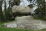 Chiding Stone or Judgement Stone at Chiddingstone Kent UK. Quite probably a landmark used as a Saxon boundary marker.  Chiddingstone means 'the stone of the Chidda's tribe'. Chidda being a Saxon tribal leader.