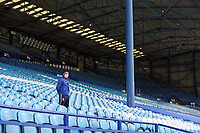 A member of the Sheffield Wednesday staff wears PPE (personal protective equipment) as he looks out from the empty seats in the stands<br /> <br /> Photographer Rich Linley/CameraSport<br /> <br /> The EFL Sky Bet Championship - Sheffield Wednesday v Nottingham Forest - Saturday 20th June 2020 - Hillsborough - Sheffield <br /> <br /> World Copyright © 2020 CameraSport. All rights reserved. 43 Linden Ave. Countesthorpe. Leicester. England. LE8 5PG - Tel: +44 (0) 116 277 4147 - admin@camerasport.com - www.camerasport.com