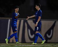 Miami, FL - Tuesday, October 15, 2019:  Richard Ledezma #17, Goal Celebration, Sebastian Soto #9 during a friendly match between the USMNT U-23 and El Salvador at FIU Soccer Stadium.