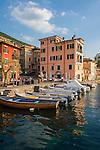 Italy, Veneto, Lake Garda, Brenzone sul Garda: small fishing harbour at district Magugnano | Italien, Venetien, Gardasee, Brenzone sul Garda: der kleine Fischerhafen im Ortsteil Magugnano