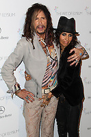 LOS ANGELES, CA - JANUARY 11: Steven Tyler, Linda Perry at The Art of Elysium's 7th Annual Heaven Gala held at Skirball Cultural Center on January 11, 2014 in Los Angeles, California. (Photo by Xavier Collin/Celebrity Monitor)