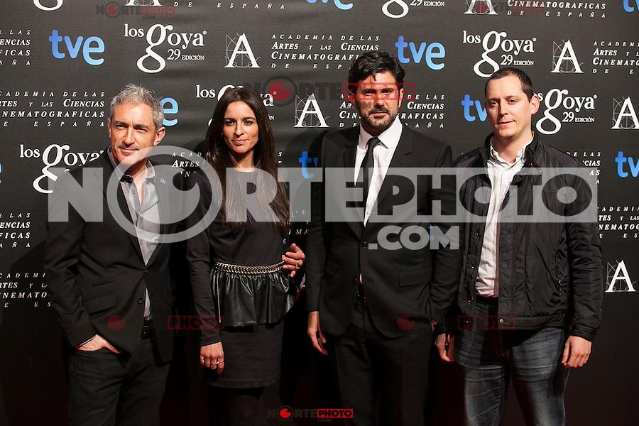 Jon Sistiaga and singer Bebe pose before the 2015 Goya Awards nominee ceremony in Madrid, Spain. January 19, 2015. (ALTERPHOTOS/Victor Blanco)
