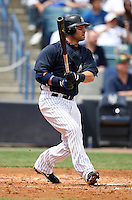 April 3, 2010:  Outfielder Nick Swisher of the New York Yankees playing in the annual Futures Game during Spring Training at Legends Field in Tampa, Florida.  Photo By Mike Janes/Four Seam Images