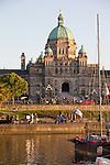 Victoria, Parliament Building, Government House, Inner Harbor, British Columbia, Vancouver Island, Canada,