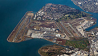 aerial photograph of Oakland International Airport(OAK), Oakland, California
