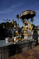 Battambang - Cambodia - June 2020<br /> - WAT DOMREI SOR Pagoda in early morning