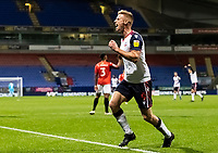 Bolton Wanderers' Eoin Doyle celebrates scoring his side's first goal <br /> <br /> Photographer Andrew Kearns/CameraSport<br /> <br /> The EFL Sky Bet League Two - Bolton Wanderers v Salford City - Friday 13th November 2020 - University of Bolton Stadium - Bolton<br /> <br /> World Copyright © 2020 CameraSport. All rights reserved. 43 Linden Ave. Countesthorpe. Leicester. England. LE8 5PG - Tel: +44 (0) 116 277 4147 - admin@camerasport.com - www.camerasport.com