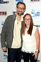 """LOS ANGELES - AUG 11:  Tim Lowry, Neely Gurman at """"Final Frequency"""" Screening & Red Carpet at Laemmle Town Center on August 11, 2021 in Encino, CA"""