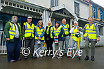 Ballybunion Tidy Town members standing near a building that need a lick of paint in Ballybunion as they hope to avail of the Streetscape Enhancement Scheme Funding which is available for replacing existing shopfronts or signage, and other enhancements to the exterior of commercial, residential, or vacant buildings. L to r: Eileen Beasley, Seamus O'Doherty, Jackie Pierce, Kathleen Collins, Pat O'Connor, Tom Scanlon, Francis O'Kelly and Eileen Brennan.