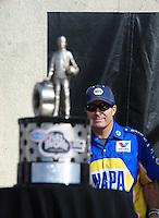 Nov. 13, 2011; Pomona, CA, USA; NHRA funny car driver Ron Capps during the Auto Club Finals at Auto Club Raceway at Pomona. Mandatory Credit: Mark J. Rebilas-.