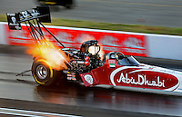 Sept. 4, 2010; Clermont, IN, USA; NHRA top fuel dragster driver Rod Fuller during qualifying for the U.S. Nationals at O'Reilly Raceway Park at Indianapolis. Mandatory Credit: Justin Tooley-