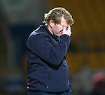 St Johnstone v Motherwell....25.02.14    SPFL<br /> Stuart McCall holds his head<br /> Picture by Graeme Hart.<br /> Copyright Perthshire Picture Agency<br /> Tel: 01738 623350  Mobile: 07990 594431