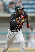 July 22 2007: Eric Young of the Modesto Nuts runs the bases against the Rancho Cucamonga Quakes at The Epicenter in Rancho Cucamonga,CA.  Photo by Larry Goren/Four Seam Images