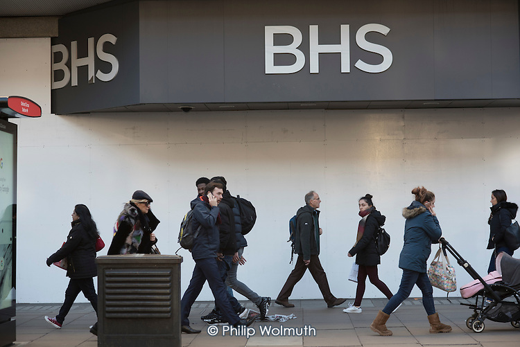 Closed BHS store, Oxford Street, London.