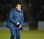 St Johnstone v Hibs…16.03.18…  McDiarmid Park    SPFL<br />Tommy Wright shouts instructions<br />Picture by Graeme Hart. <br />Copyright Perthshire Picture Agency<br />Tel: 01738 623350  Mobile: 07990 594431
