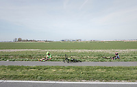 Filippo Ganna(ITA/UAE-Emirates) & Wouter Wippert (NED/Cannondale-Drapac) crashed<br /> <br /> 79th Gent-Wevelgem 2017 (1.UWT)<br /> 1day race: Deinze › Wevelgem - BEL (249km)