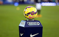 Liverpool, UK. Saturday 01 November 2014<br /> Pictured: The Nike ball on a Barclays pedestal<br /> Re: Premier League Everton v Swansea City FC at Goodison Park, Liverpool, Merseyside, UK.