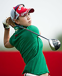 CHON BURI, THAILAND - FEBRUARY 16:  Momoko Ueda of Japan tees off on the 12th hole during day one of the LPGA Thailand at Siam Country Club on February 16, 2012 in Chon Buri, Thailand.  Photo by Victor Fraile / The Power of Sport Images