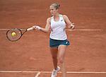 May 27, 2016:  Shelby Rogers (USA) defeated Petra Kvitova (CZE) 6-0, 6-7, 6-0 at  Roland Garros being played at Stade Roland Garros in Paris, France.  ©Leslie Billman/Tennisclix/CSM