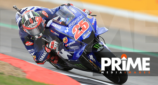 Maverick Vinales (25) of the Movistar Yamaha MotoGP race team during the GoPro British MotoGP at Silverstone Circuit, Towcester, England on 24 August 2018. Photo by Chris Brown / PRiME Media Images