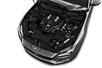 Car stock 2017 Maserati Quattroporte S 4 Door Sedan engine high angle detail view