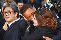 Agnès JAOUI et Will SMITH, la derniere montée pour la Palme d'Or, soixante-dixième (70ème) Festival du Film à Cannes, Palais des Festivals et des Congres, Cannes, Sud de la France, dimanche 28 mai 2017.