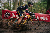 mudsplash by Lars van der Haar (NED/Telenet Fidea Lions)<br /> <br /> Men's race<br /> Superprestige Asper-Gavere 2018 (BEL)
